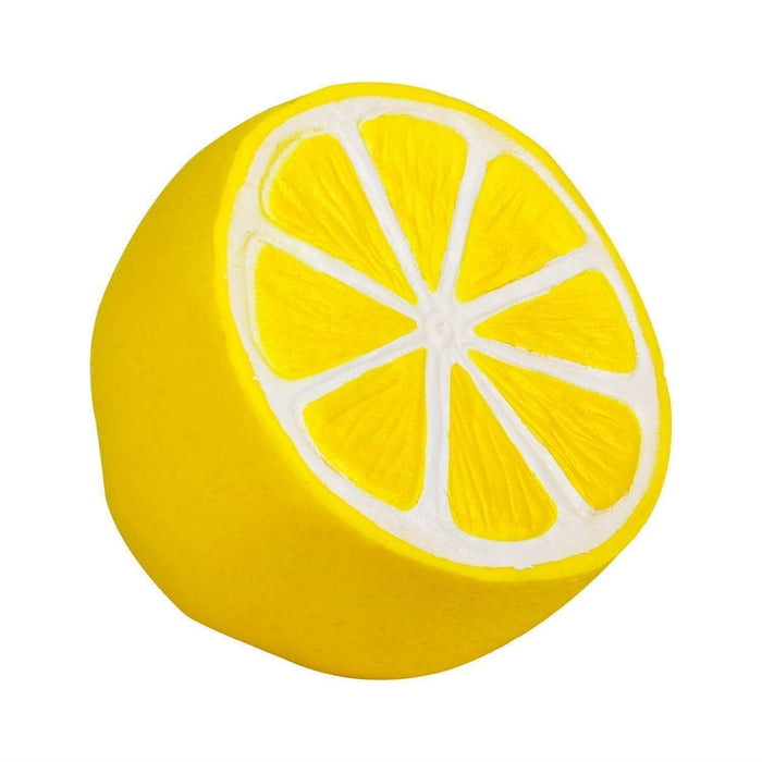 A yellow lemon slice squishy