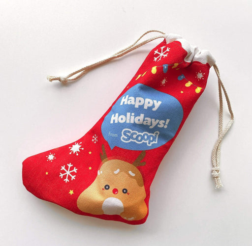 A branded Christmas stocking