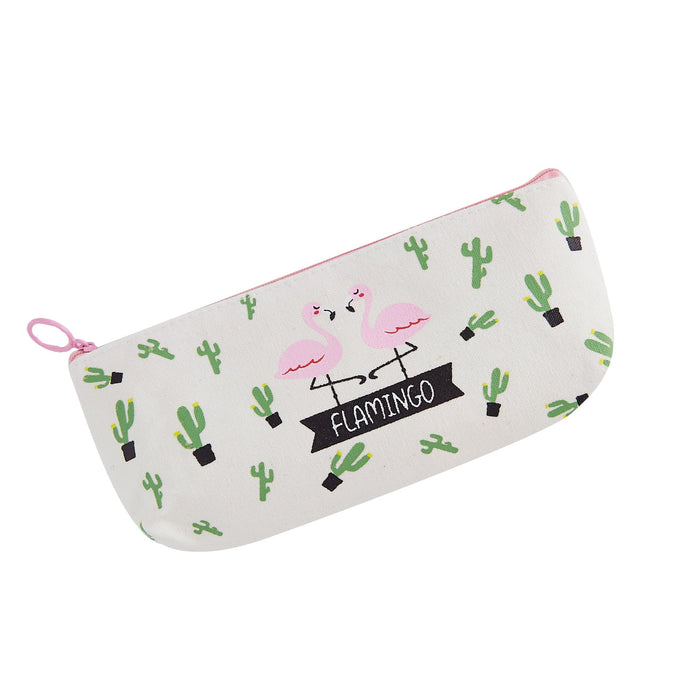Summer Flamingo Pencil Case
