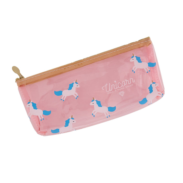 Magical Unicorn Translucent Pencil Case