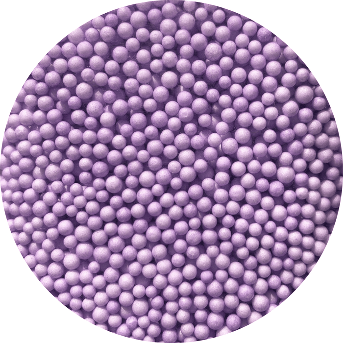 Several purple foam beads