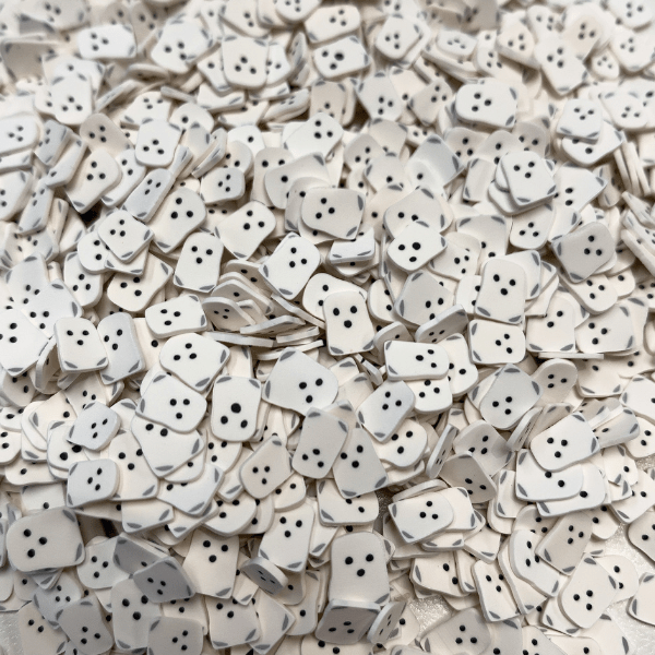 A mix of white ghost sprinkles