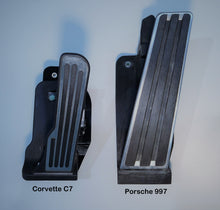 Load image into Gallery viewer, Corvette C7 Pedal versus Porsche 997 Pedal