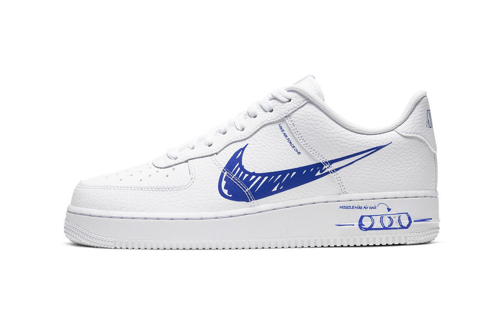 Nike Air Force 1 Sketch Racer Blue | Hype Vault Malaysia