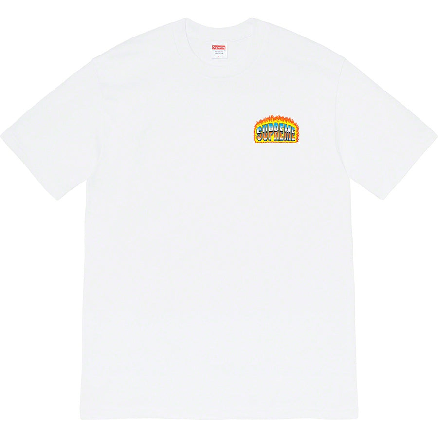 Supreme Chrome Tee White FW20 | Hype Vault | Malaysia's leading streetwear store | Authentic without a doubt