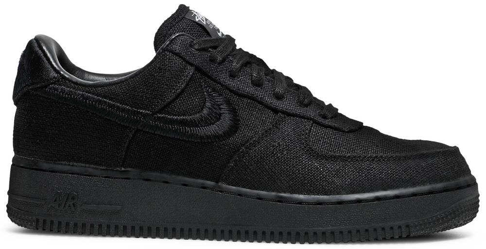 Stussy x Nike Air Force 1 Low 'Triple Black' | Hype Vault Malaysia | Authentic without a doubt