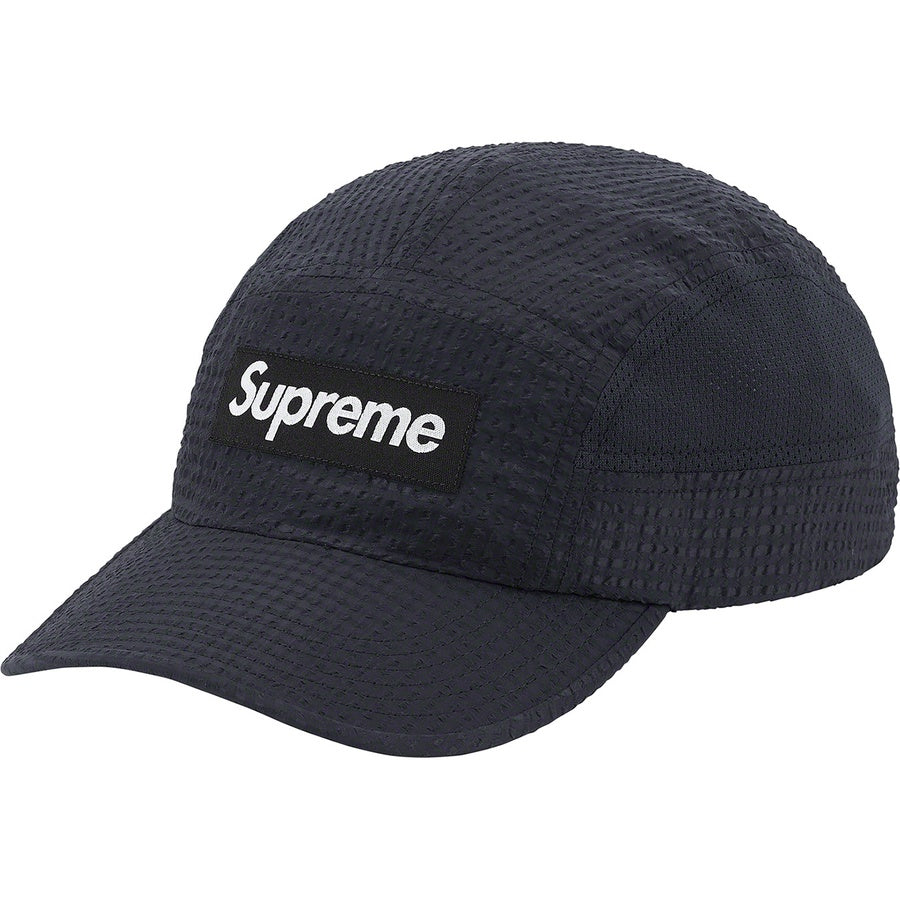 Supreme Mesh Seersucker Camp Cap Black | Hype Vault Kuala Lumpur | Asia's Top Trusted High-End Sneakers and Streetwear Store | Authenticity Guaranteed