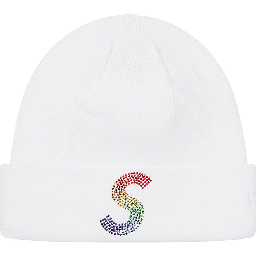 Supreme x New Era x Swarovski S Logo Beanie White | Hype Vault Kuala Lumpur | Asia's Top Trusted High-End Sneakers and Streetwear Store | Authenticity Guaranteed