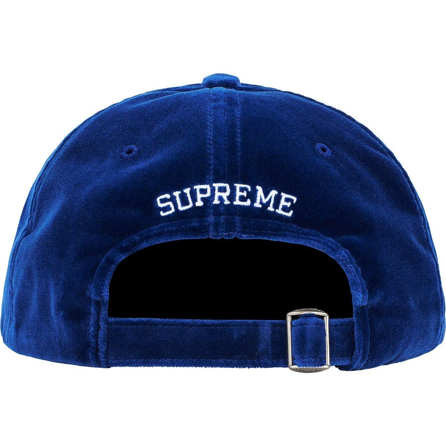 Supreme Velvet S Logo 6-Panel Red | Hype Vault | Malaysia's leading streetwear store | Authentic without a doubt
