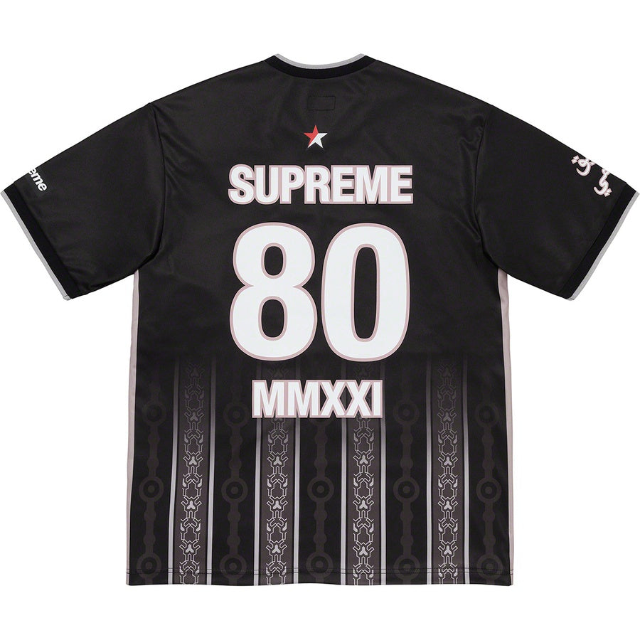 Supreme Arabic Logo Soccer Jersey Black | Hype Vault Kuala Lumpur | Asia's Top Trusted High-End Sneakers and Streetwear Store | Authenticity Guaranteed