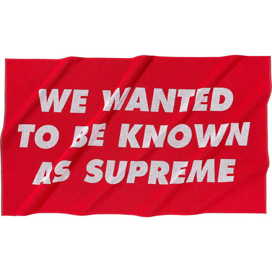 Supreme Known as Towel Red - Hype Vault Malaysia