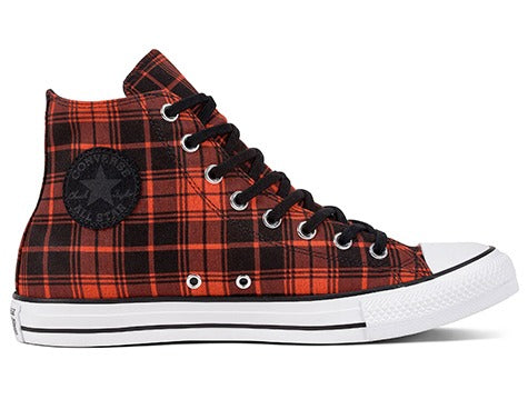 Converse Chuck Taylor All Star Plaid Bright Poppy | Hype Vault Malaysia