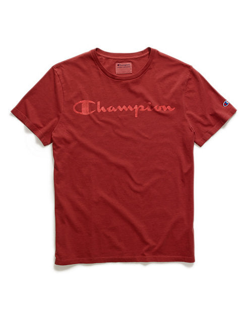 Champion Faded Big Script Logo Vintage Dye Tee - Hype Vault Malaysia