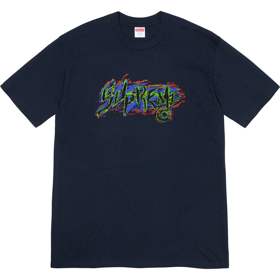 Supreme Scratch Tee Navy | Hype Vault Malaysia
