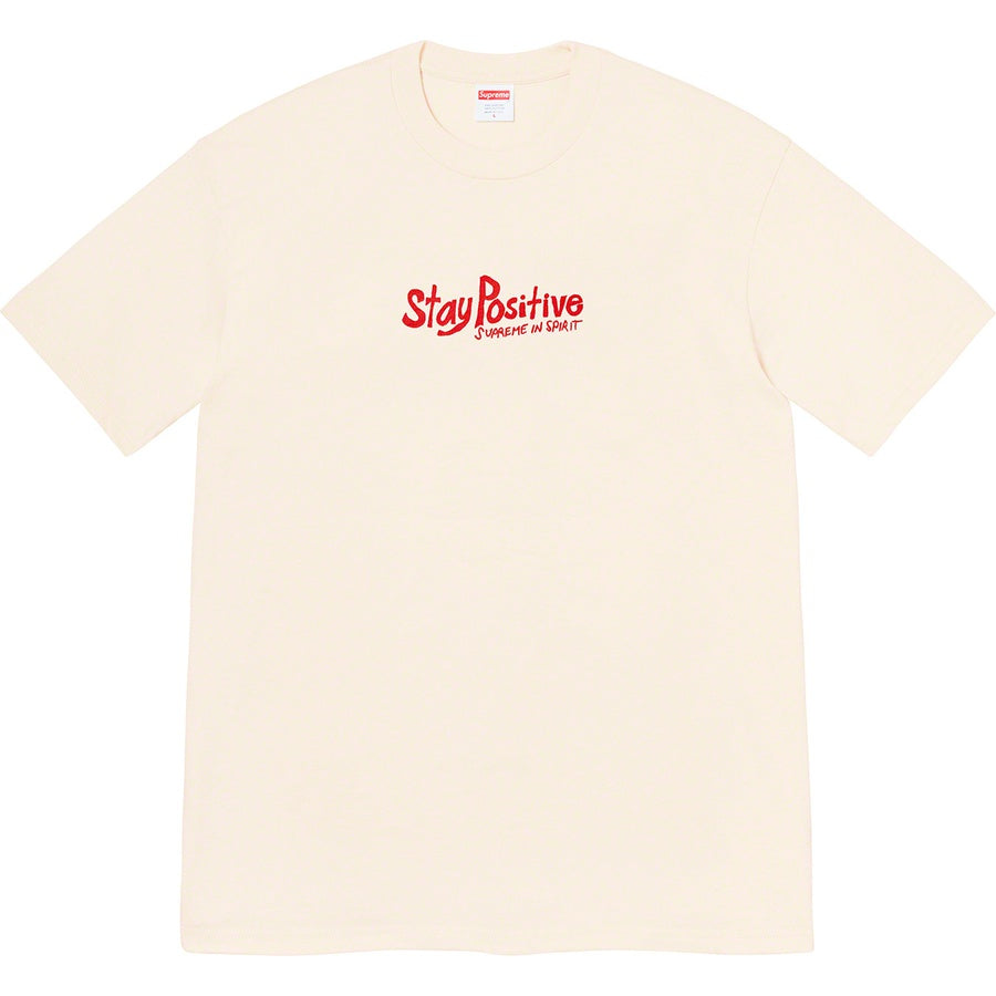 Supreme Stay Positive Tee Natural (FW20) | Hype Vault Malaysia