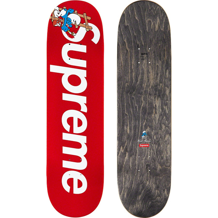Supreme Smurfs Skateboard Red | Hype Vault Malaysia