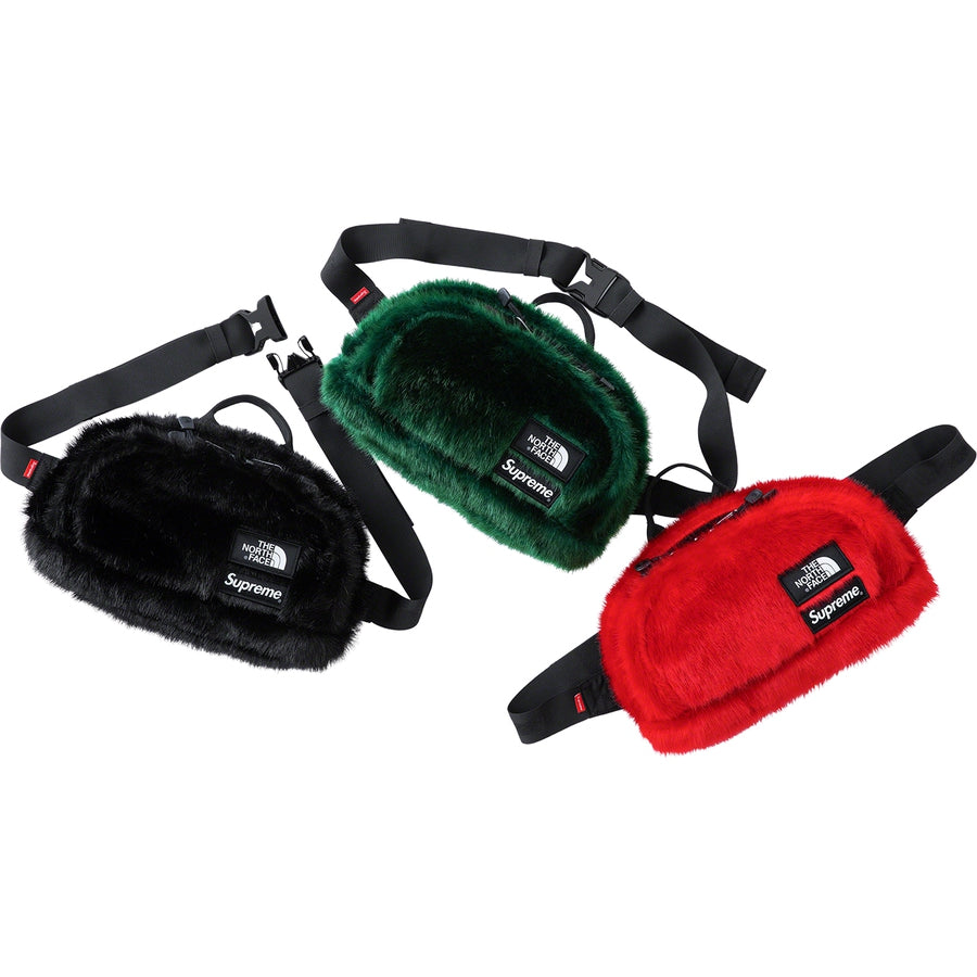 Supreme x The North Face (TNF) Faux Fur Waist Bag Black