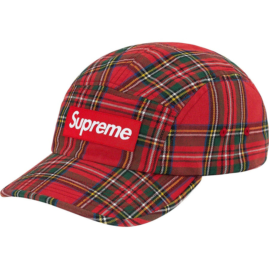 Supreme Washed Chino Twill Camp Cap Red Tartan (FW20) | Hype Vault Malaysia