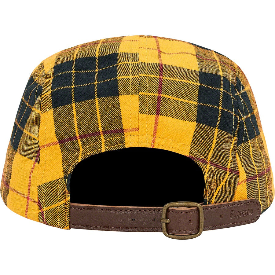 Supreme Washed Chino Twill Camp Cap Yellow Tartan (FW20) | Hype Vault Malaysia