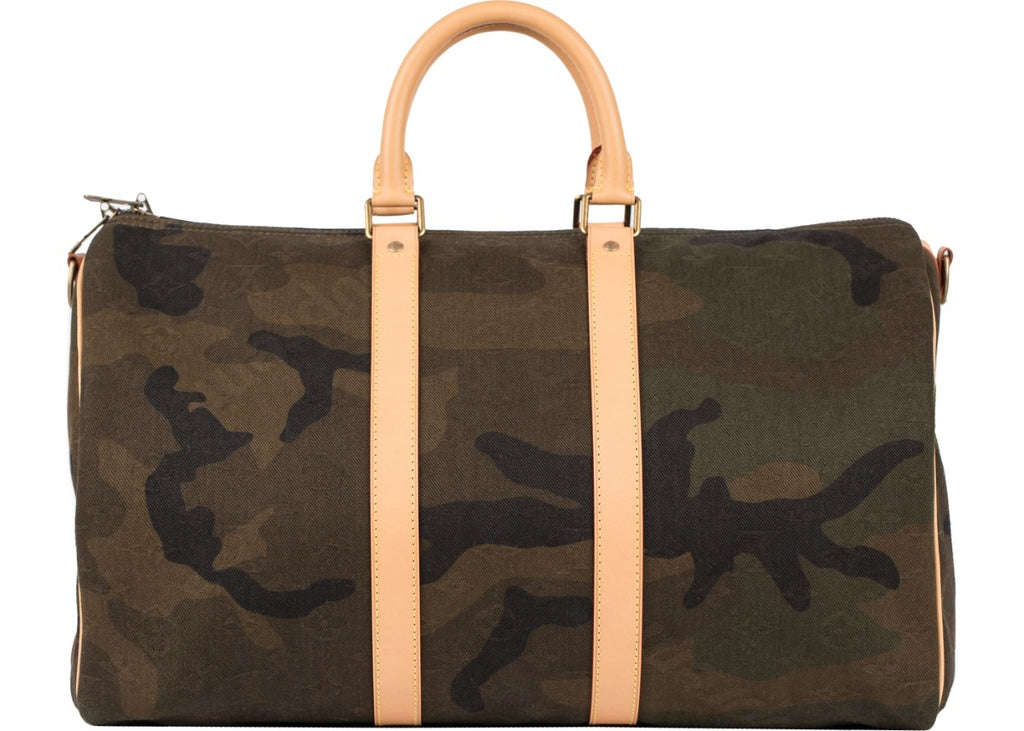 Louis Vuitton x Supreme Keepall Bandouliere 45 Camo | Hype Vault Malaysia