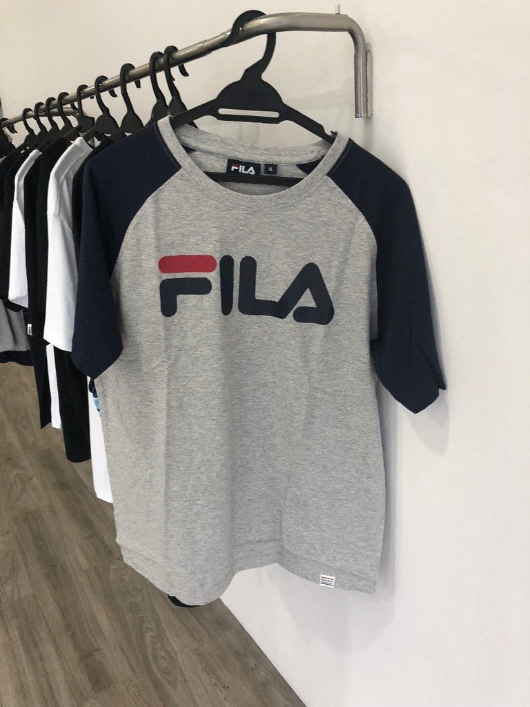 Navy on Grey Fila Heritage T-Shirt
