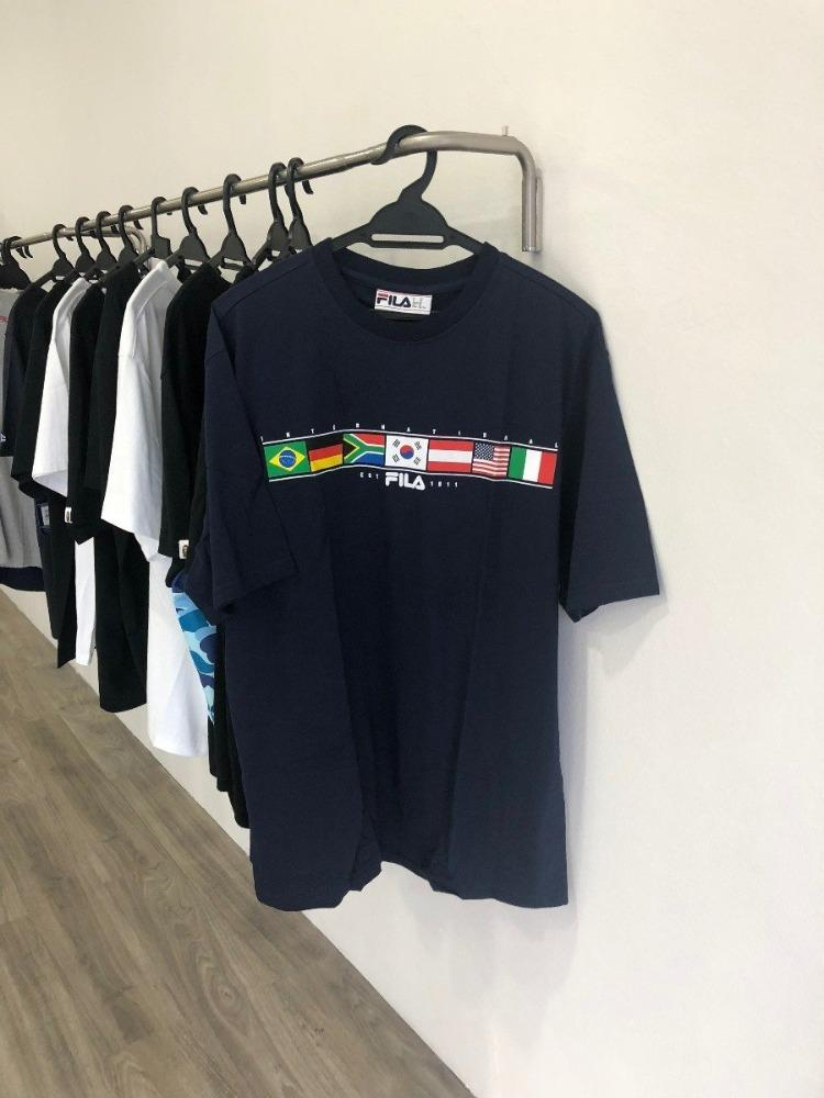 Country Flags Fila Tee - Hype Vault