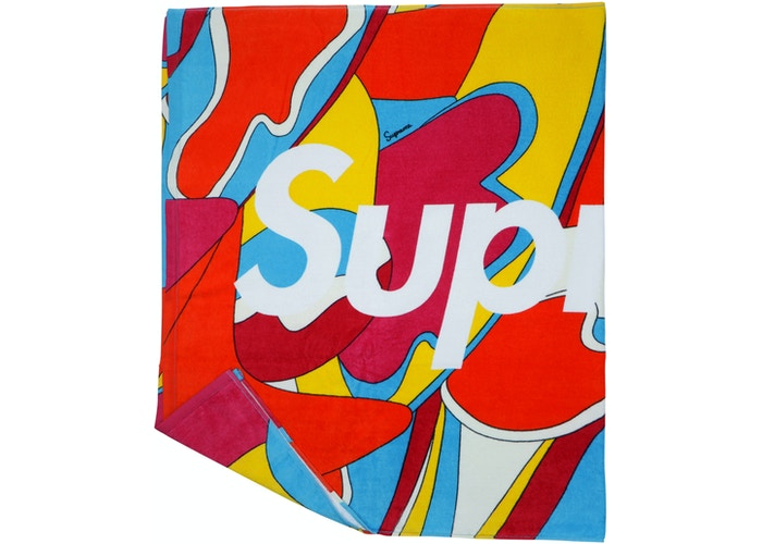 Supreme Abstract Beach Towel Red | Hype Vault Malaysia