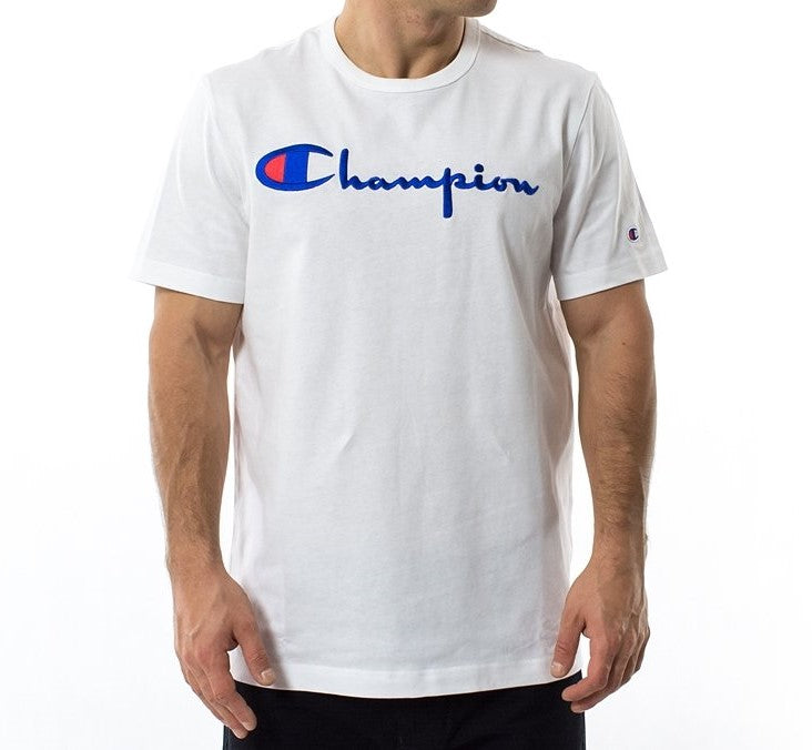 Champion Embroidered Big Script T-Shirt White - Hype Vault Malaysia