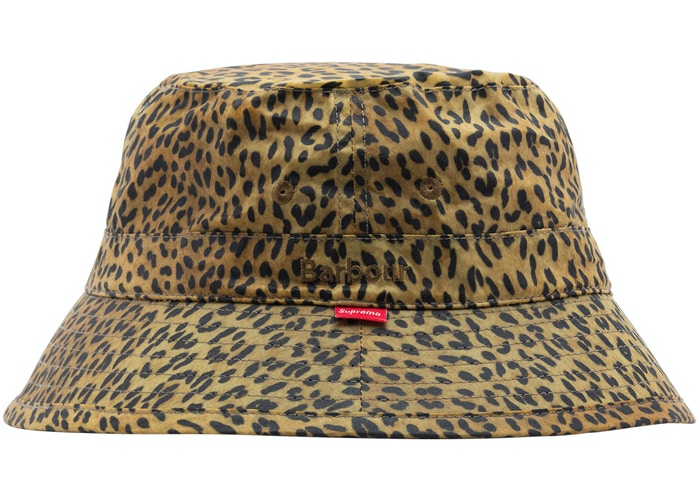 Supreme Barbour Waxed Crusher Bucket Hat Leopard - Hype Vault Malaysia