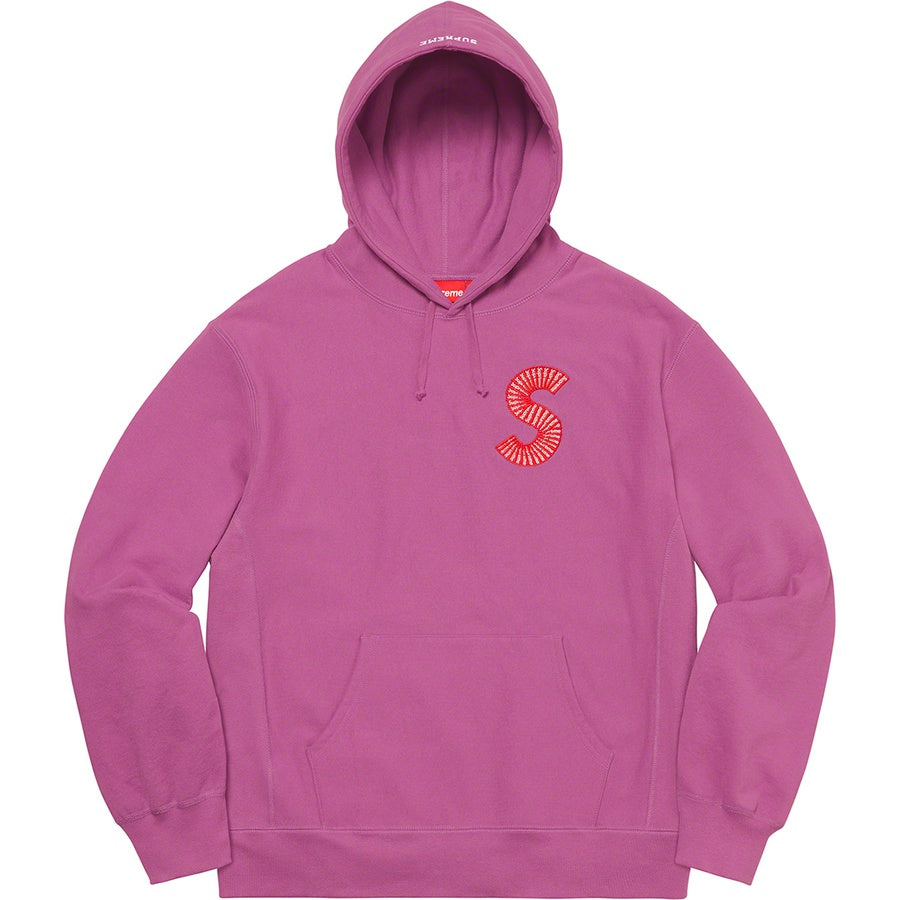 Supreme S Logo Hooded Sweatshirt Bright Purple - Hype Vault Malaysia