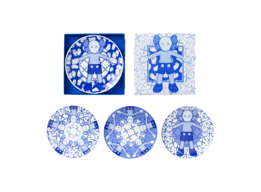 KAWS Holiday Limited Ceramic Plate (Set of 4) | Hype Vault Malaysia