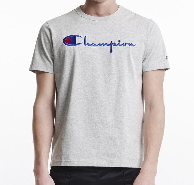 Champion Embroidered Big Script T-Shirt Grey