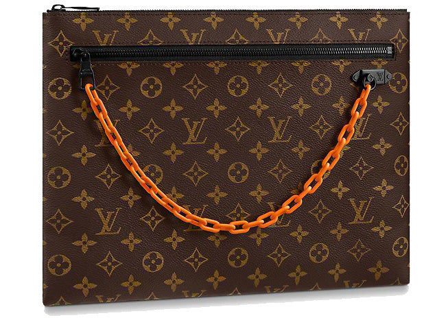 Louis Vuitton x Virgil Abloh A4 Pouch Monogram Brown | Hype Vault Malaysia