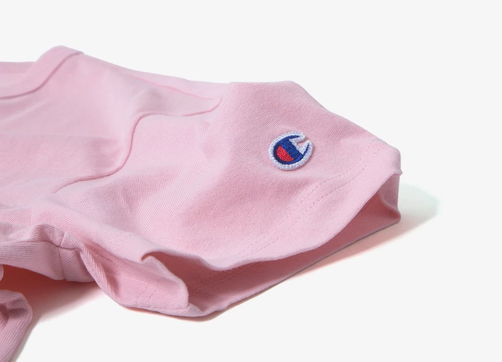 Champion Embroidered Big Script T-Shirt Pink - Hype Vault