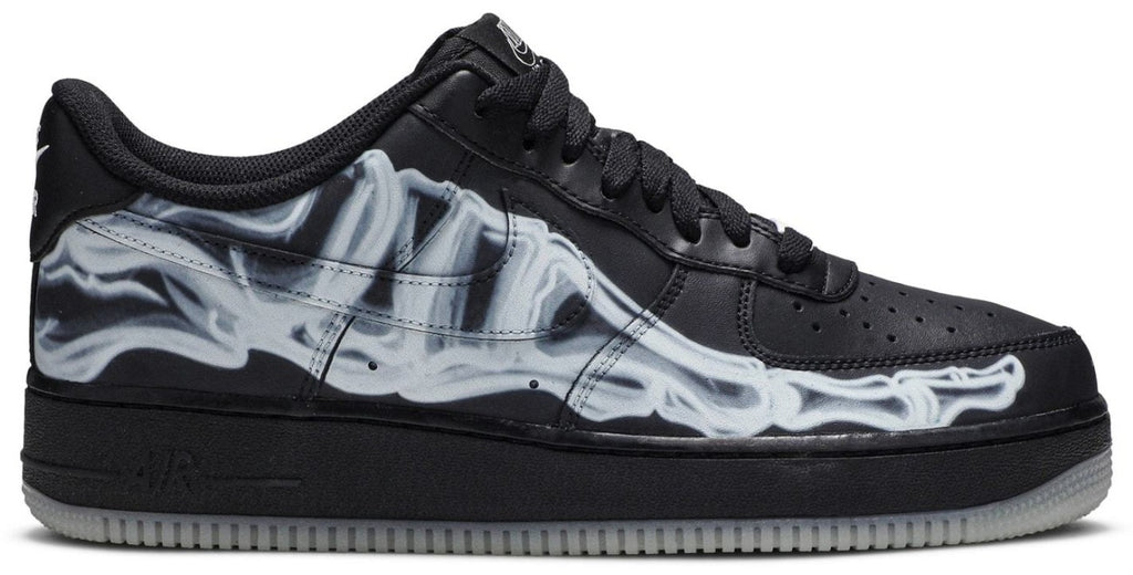 Nike Air Force 1 Black Skeleton (Size UK 5) - Hype Vault Malaysia
