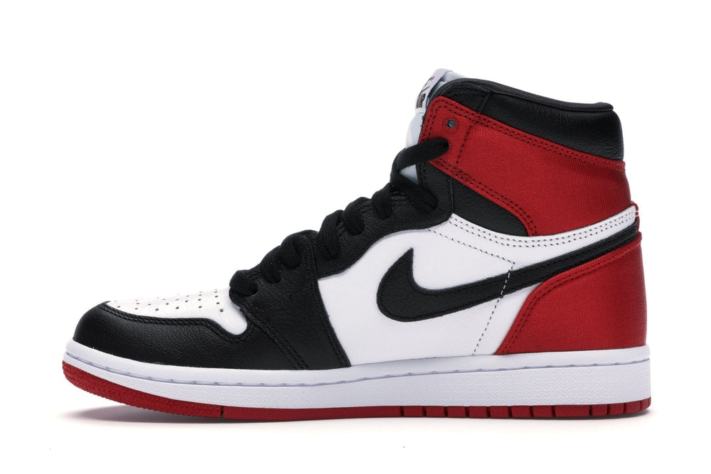 Air Jordan 1 Retro High Satin Black Toe (W) (Size UK 5/US 7.5 W) - Hype Vault Malaysia
