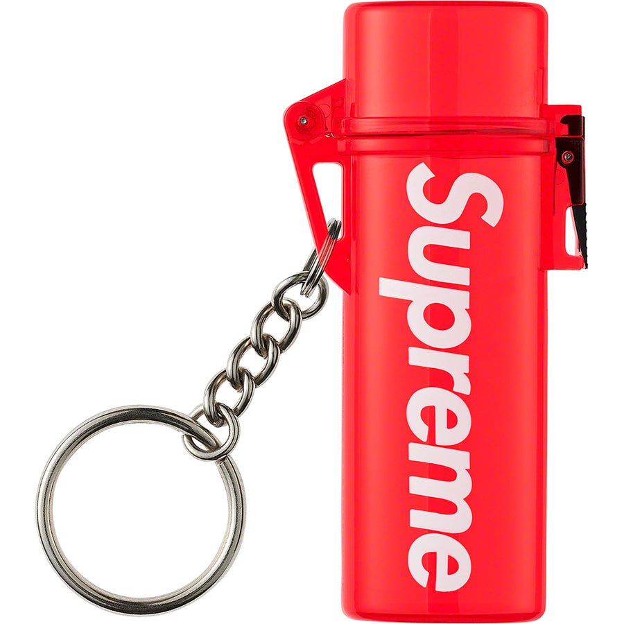 Supreme Waterproof Lighter Case Keychain Red - Hype Vault