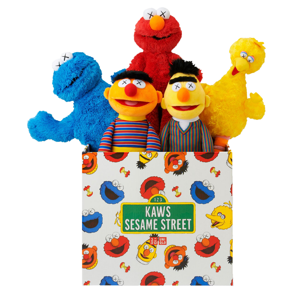 KAWS Sesame Street Uniqlo Plush Toy Complete Box Set | Hype Vault Malaysia