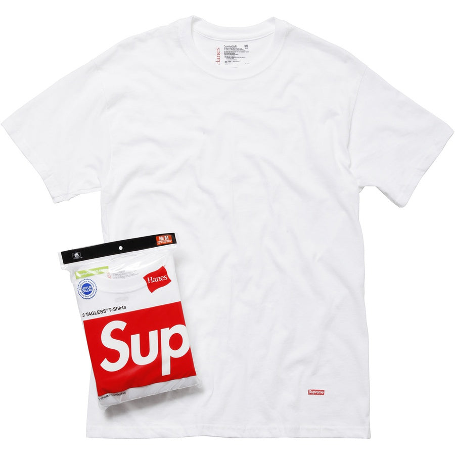 Supreme Hanes Tagless Tees White 3 Pack - Hype Vault Malaysia