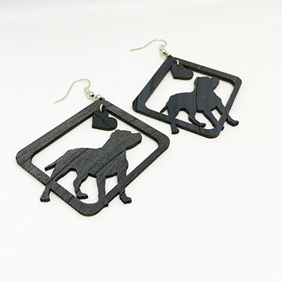 Earrings American Staffordshire Terrier