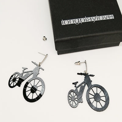 Earrings Bicycle
