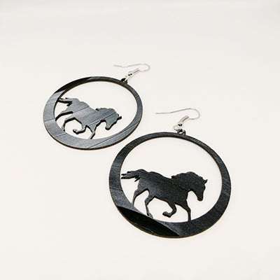 Earrings Playful Horse