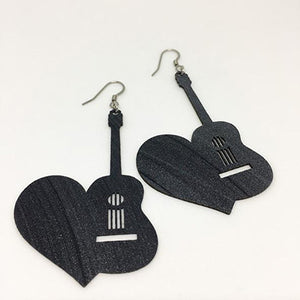 Earrings Guitar to Heart