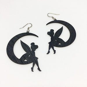 Earrings Tinkerbell on the Moon