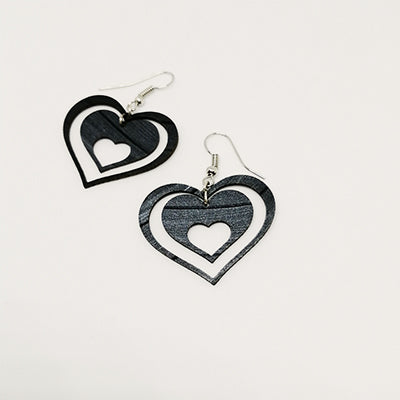 Earrings Heart in Heart