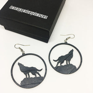 Earrings Wolf