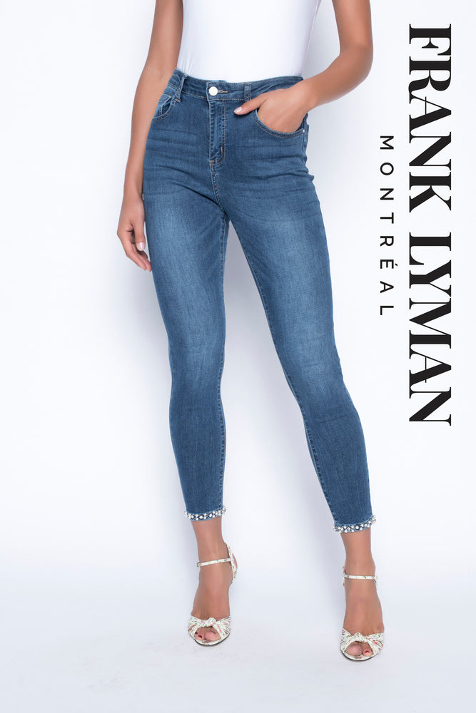 Frank Lyman Embellished Denim 190117U - The Coach Pyramids