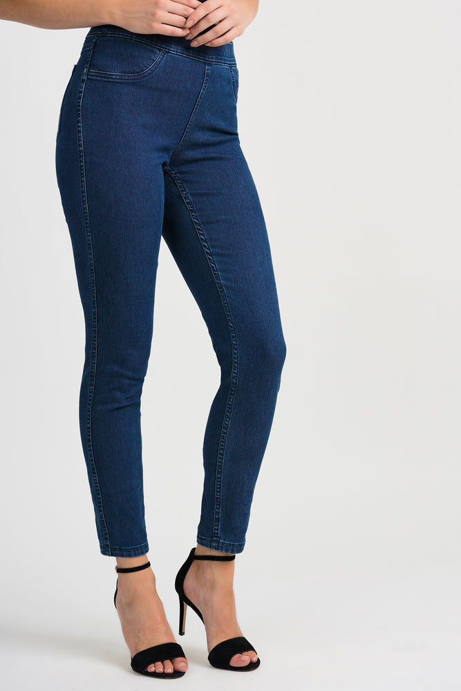 Joseph Ribkoff Reversible Denim Pant - 201105 - The Coach Pyramids