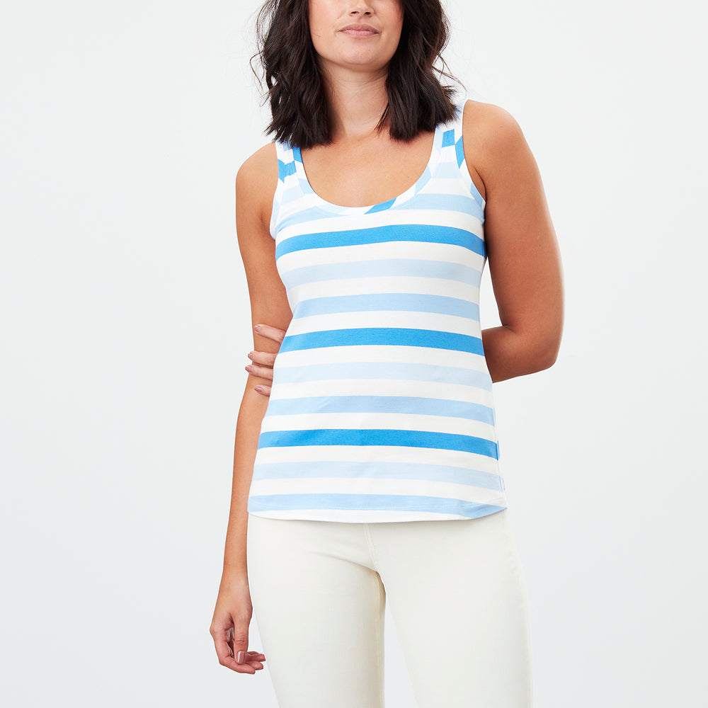 Copy of Joules Spring/Summer 2021 - Tank - 213346 - Blue - The Coach Pyramids
