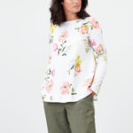 Joules Spring/Summer 2021 - Top - 213643 - Cream Floral - The Coach Pyramids